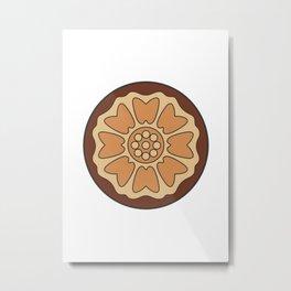 White Lotus Tile Metal Print