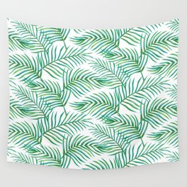 Palm Leaves_Bg White Wall Tapestry