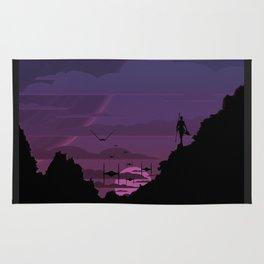 Twilight Of Darkness PURPLE Rug
