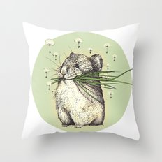 Hamster Love Throw Pillow
