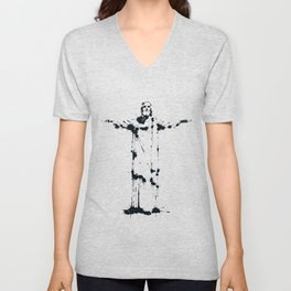 Splaaash Series - Jesus Cristo Ink Unisex V-Neck