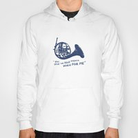how i met your mother Hoodies featuring How I Met Your Mother - Blue French Horn by Victoria Schiariti