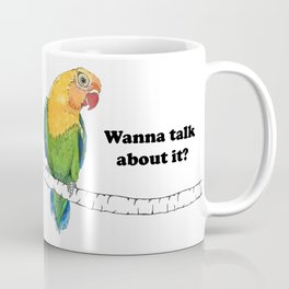 Lovebird Listener Coffee Mug