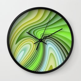 Wave Pattern Wall Clock