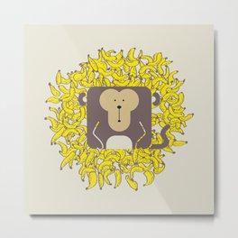 Cute Animals: Monkey Metal Print