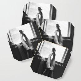 digital photo photography legs window figure woman black and white Coaster