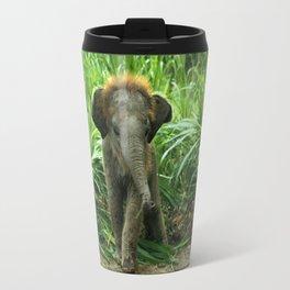 Elephant and Grass Travel Mug