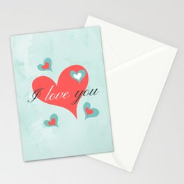 Saint Valentine's Day (I love you) Stationery Cards