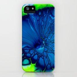 Indigo hibiscus iPhone Case