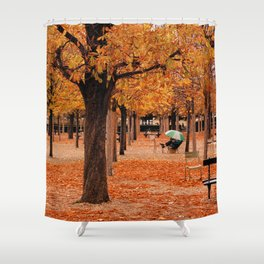 Paris in the Fall Shower Curtain