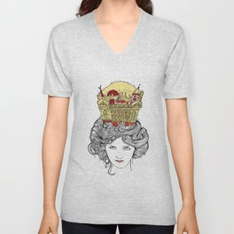 The Queen of Montreal Unisex V-Neck