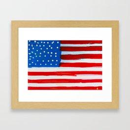 Red, White, and Blue Framed Art Print
