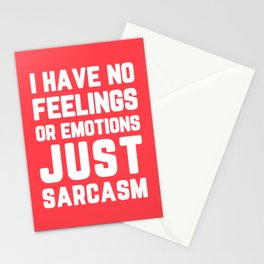 Just Sarcasm Funny Quote Stationery Cards