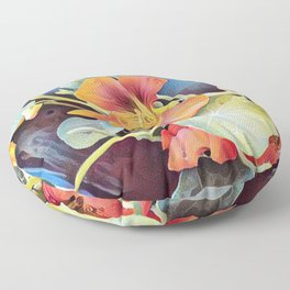 NASTURTIUMS Floor Pillow