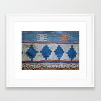 kilim Framed Art Prints featuring afghani kilim by sara gering