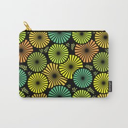 Retro flowers and leaves Carry-All Pouch