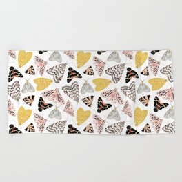 Moth's Diverse Beauty Pattern Beach Towel