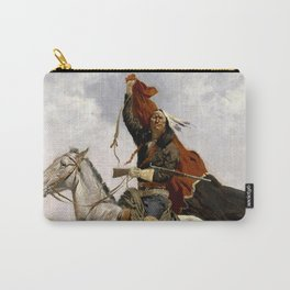 "Frederic Remington Western Art ""The Blanket Signal"" Carry-All Pouch"