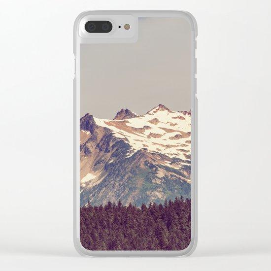 Vintage Cascades Clear iPhone Case