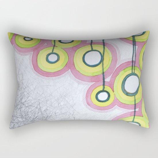 Hanging Light Bulbs Rectangular Pillow