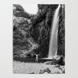 Naked Long Exposure Waterfall Poster