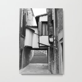 Unusual Venice #3 - Black and White Metal Print