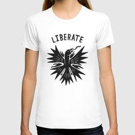 phoenix liberate crest x typography T-shirt