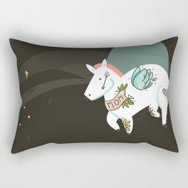 Tattooed horse Rectangular Pillow