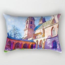 Minster Gardens - Basel, Switzerland Rectangular Pillow