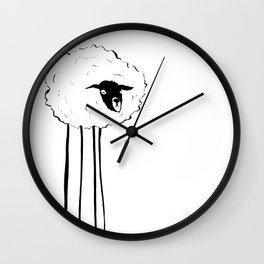 Creepy Sheep Wall Clock