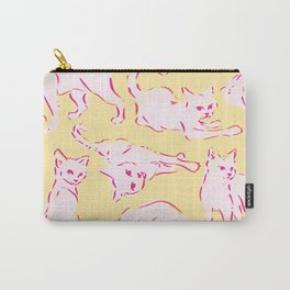 Cat Crazy yellow Carry-All Pouch