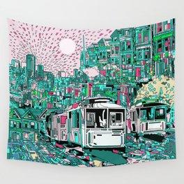 san francisco city skyline Wall Tapestry