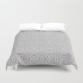 Rosettes in Purple and Green Duvet Cover