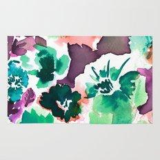 Zoe Floral Sea Green Rug