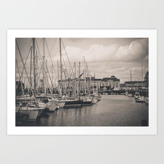 Casino at the harbor Art Print