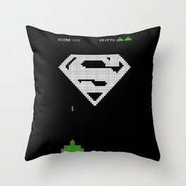 Super Invader Throw Pillow