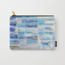 Abstract blue pattern 2 Carry-All Pouch