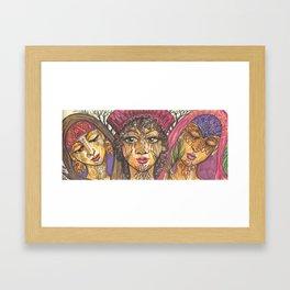 Triple Muse Framed Art Print