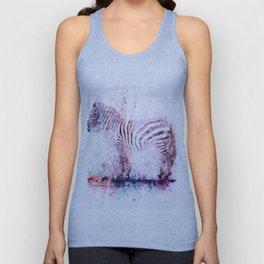 Watercolor Wash Zebra Unisex Tank Top