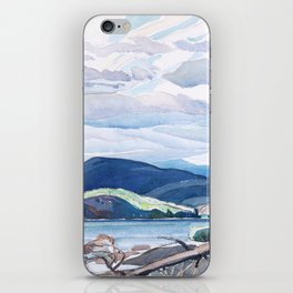 Franklin Carmichael - Lake and Hills - Canada, Canadian Watercolor Painting - Group of Seven iPhone Skin