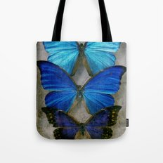 Sapphire Butterfly Tote Bag