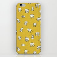 baby iPhone & iPod Skins featuring indian baby elephants by Estelle F