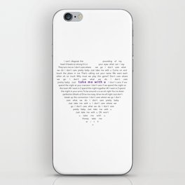 Take Me With U My Valentines Love iPhone Skin