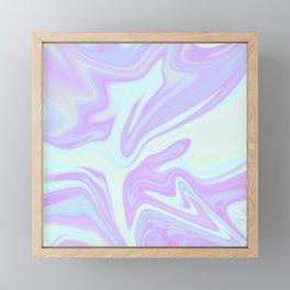 Unicorn Goo Liquid Holographic Texture Framed Mini Art Print