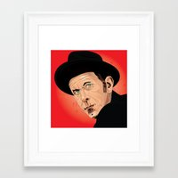 tom waits Framed Art Prints featuring Tom Waits by Brian Madden