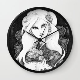 Midnight Rose Wall Clock