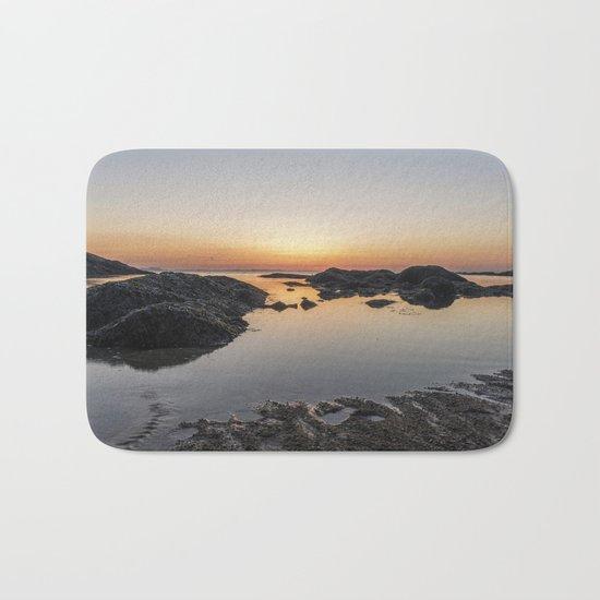 Spring Sunset at Plum Cove Beach Bath Mat