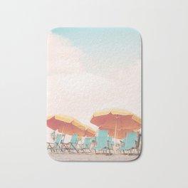 Beach Chairs and Umbrellas Bath Mat