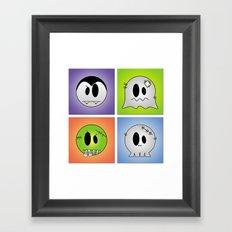 Little Halloween Monsters Framed Art Print