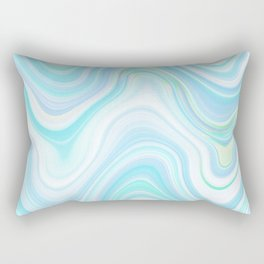 Cool Pastel Blue Lava Marble  #marble #society6 #abstractart Rectangular Pillow